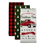 Design Imports Assorted Christmas Truck Kitchen Towels 3-pack