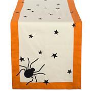 Design Imports Black Stars Print Table Runner
