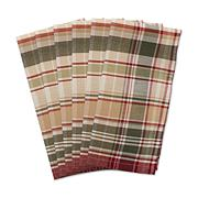 Design Imports Give Thanks Plaid Cloth Napkins Set of 6
