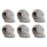 Design Imports Silver Skull Napkin Ring Set of 6