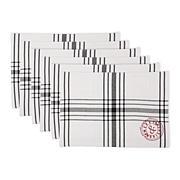 Design Imports Vintage Stamp Placemats Set of 6