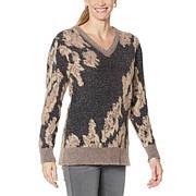 DG2 by Diane Gilman Fuzzy Novelty Sweater