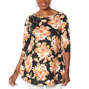 DG2 by Diane Gilman Printed Swing Top