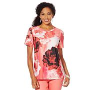 DG2 by Diane Gilman Short-Sleeve Printed Tee
