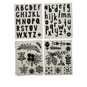 Diamond Press Nordic Alphabet Stamp Kit