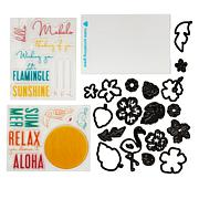 Diamond Press Tropical Layered Stamp and Die Kit