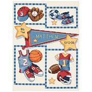 Dimensions Cross Stitch Kit - Baby Hugs Little Sports