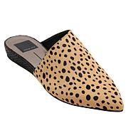 Dolce Vita Ekko Leopard-Print Hair Calf Leather Wedge Mule