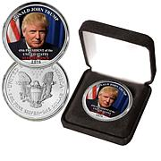 """Donald Trump 45th President"" Colorized Silver Eagle"