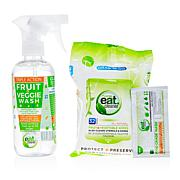 Eat Cleaner Fruit and Vegetable Wash and Wipes Kit