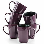 Elama Mulberry 6-piece Luxe and Large Dinner Mugs