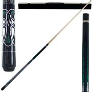 Emerald Green Laser Hardwood 2-piece Pool Cue with Case