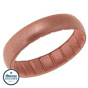 Enso Elements Thin Rose Gold Color Silicone Band Ring