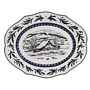 Fitz and Floyd Bristol Holiday Oval Platter