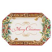 Fitz and Floyd Yuletide Holiday Elegant Appetizer Tray