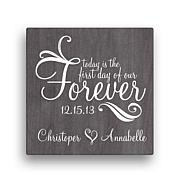 Forever Personalized Canvas Wall Art