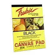 "FREDRIX Black Canvas 10-Sheet Pad 12"" x 16"""