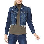 G by Giuliana Puff Sleeve Denim Jacket
