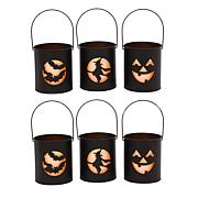 Gerson Company Battery-Operated Lit Halloween Cutout Luminaries 6-pack
