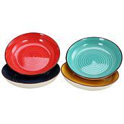 Gibson Home Vibrant Colors  4-piece Salad Bowl Set