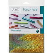 "Gina K Designs Fancy Foil 6"" x 8"", 12 Piece - Glimmering Gold"