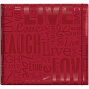 "Gloss Scrapbook 12"" x 12"" - Live Love Laugh - Red"