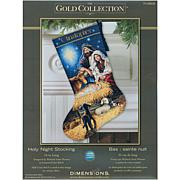 Gold Collection Holy Night Stocking Kit - 18-Count