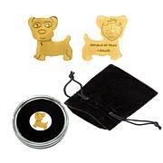 Golden Dog .9999 Gold $1 Palau Coin