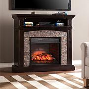 Grantham Simulated Stone Infrared Electric Fireplace