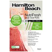 Hamilton Beach NutriFresh Heat-Seal Rolls 3 11 in x 16 ft Rolls