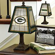 NFL Handpainted Art Glass Team Lamp