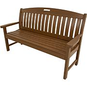 "Hanover All-Weather Avalon 60"" Porch Bench - Teak"