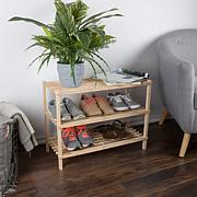 Hastings Home 3-Tier Wooden Shoe Rack, 9 Pair
