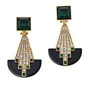 """Heidi Daus """"Avant Garde"""" Crystal Stud Earrings"""