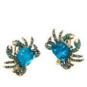 """Heidi Daus """"Crabby"""" Crystal Stud Earrings"""