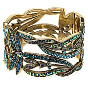"Heidi Daus ""Dancing Dragonfly"" Crystal-Accented Hinged Bangle Bracelet"