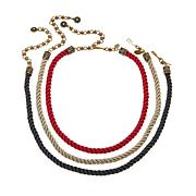 "Heidi Daus ""Elegant Essentials"" Set of 3 Cord Necklaces"