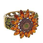 "Heidi Daus ""Fabulous Sunflower"" Crystal Bangle Bracelet"