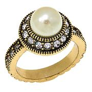 "Heidi Daus ""Sparkling Solution"" Round Crystal Ring"