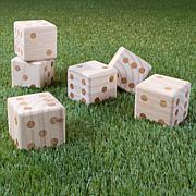 Hey! Play! Giant Wooden Yard Dice Outdoor Lawn Game with Carrying Case