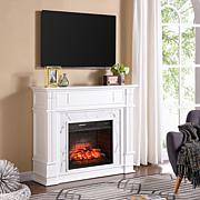 Highgate Faux Cararra Marble Media Infrared Fireplace