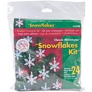 "Holiday Beaded Ornament Kit - Mini Snowflakes 2"", Makes 24"