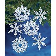 Holiday Beaded Ornament Kit - Winter Ice, Makes 6