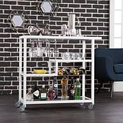 Holly and Martin Zephs Bar Cart - White