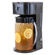 HomeCraft 3-Quart Black Café' Ice Iced Coffee and Tea Brewing System