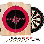 Houston Rockets NBA Wood Dart Cabinet Set