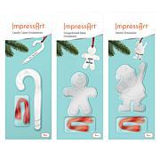 ImpressArt Christmas 3-pack Ornament Stamp Kit