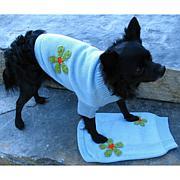 Isabella Cane Knit Dog Sweater - Flowers XS