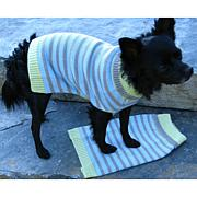 Isabella Cane Knit Dog Sweater - Stripes XS
