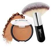 IT Cosmetics Sunshine in a Compact Matte Anti-Aging Bronzer with Brush
